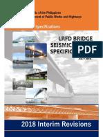 INTERIM REVISION LRFD Bridge Seismic Design Specification(2018)