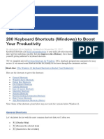 200 shortcut keys for computer