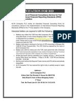 Bid Notice-IFRS