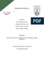 marco legal de las narco series y su relacion con la violencia y  actos delictivos