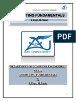 COMPUTING FUNDAMENTALS lab manuals