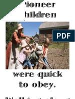 Pioneer Children...Obey Flipchart