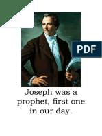 Joseph Follow the Prophet Flipchart