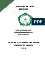 PRAKTIKUM FISIOLOGI (BIOMEDIK III)