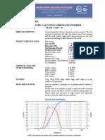 EAMC - GCC TDS -  UNCOATED CALCIUM CARBONATE POWDER