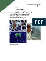 DoE Aquatic Species Biofuel Final Report