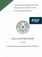 Execution Procedure TDCJ 2008