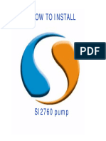 How to install a SI2760 pump