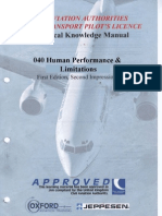 Jaa Atpl Book 08 - Oxford Aviation Jeppesen - Human Performance