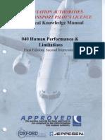 Jaa Atpl Book 08 - Oxford Aviation Jeppesen - Human Performance