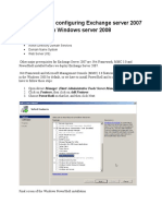 Installing and Configuring Exchange Server 2007 in Windows Server 2008