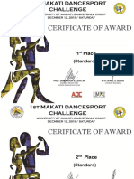 cert of award standard