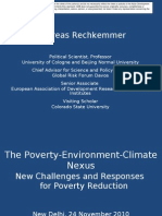 The international discussions on the poverty-environment-climate nexus in context of the MDG review process and of financing tools - Presentation