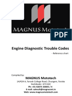 Engine Diagnostic Trouble Codes