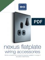 BG Electrical decorative range -Nexus Flatplate Range Leaflet