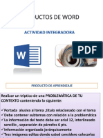 PRODUCTOS DE WORD