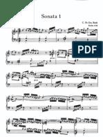 Bach, CPE - 6 Wurttemberg Sonatas