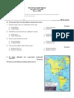 test de evaluare initiala geografie calsa a 8-a