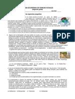 PRUEBA DE ENTRADA DE CIENCIAS SOCIALES
