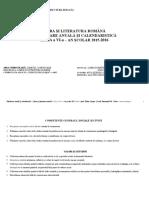 plan. română, cl. 6, 2015-2016