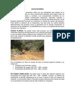 CARACTERISTICAS DE LOS FRENTES DE TRABAJO