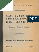 G Plejanov_Las cuestiones fundamentales del marxismo.pdf