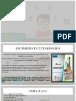Regimenes Tributarios-2018 a1