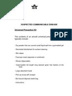 Health Guidelines Universal Precaution Kit