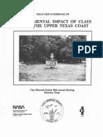 Environmental Geology of Clay in Upper Texas Coast Guidebook
