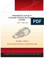 International Journal of Computer Science and Security (IJCSS), Volume (1), Issue 3
