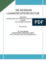 Dr Tayo Aduloju - Proposed Nigerian Communications Sector Agenda Doc