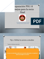 TIPS para la PSU