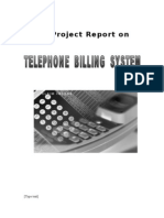 The Project Documentation of Telephone Billing System Final