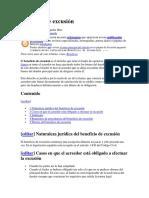 BENEFICIO DE EXCUSION