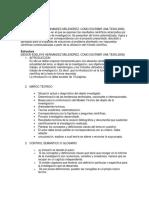 estructura para la investigación documental