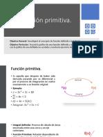 4.6 Función Primitiva.