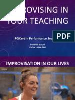 Improvising in your teaching - slides 2019-20