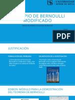 Principio de Bernoulli modificado