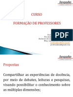 CURSO FORMAÇÃO DE PROFESSORES 2019