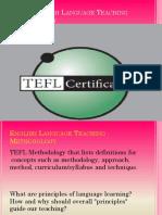 TEFL=English Language Teaching Methodology