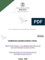 Presentacion - Elaboración Del Plan de Contingencia Educativa - Educacion Alternativa 2020