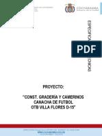 ESPECIFICACIONES TECNICA CONST. GRADERIA Y CAMERINOS CANCHA DE FUTBOL OTB VILLA FLORES D.15