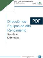 Dirección de Equipos de alta rendimiento- Sesión 6 - Manejo de grupos