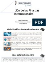 Situación de las finanzas internacionales