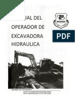 Manual Del Operador de Excavadora Hidraulica