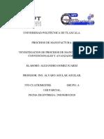 procesos de manufactura convencionales y avanzados