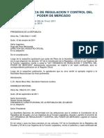 LEY ORGANICA DE REGULACION Y CONTROL DEL