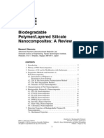 Biodegradable Polymer Layered Silicate Nano Composites a Review