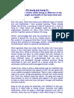 Chi Gung and Kung Fu Essay