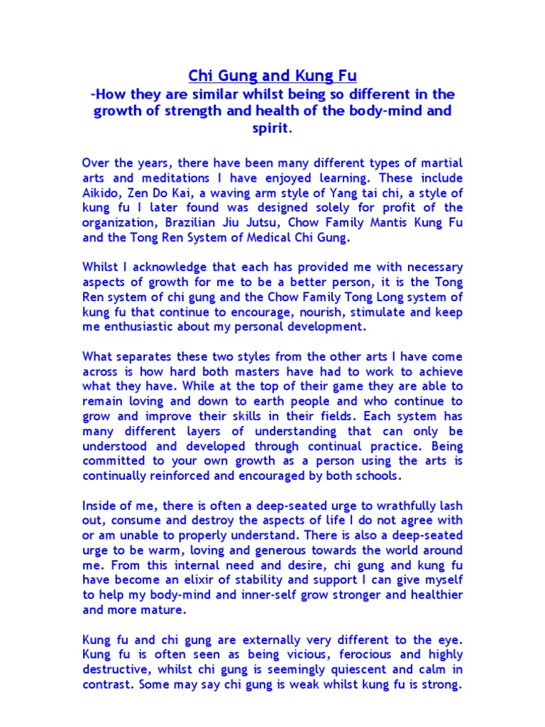 health and martial arts essay Health benefits of martial arts martial arts are broadly defined as a series of training steps to achieve the motive of equipping oneself with the craft of self defense.